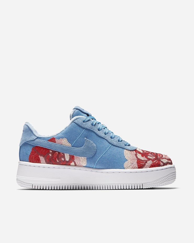 online store 9eb69 f438c Nike Sportswear Air Force 1 Upstep LX  Floral Sequin  December Sky