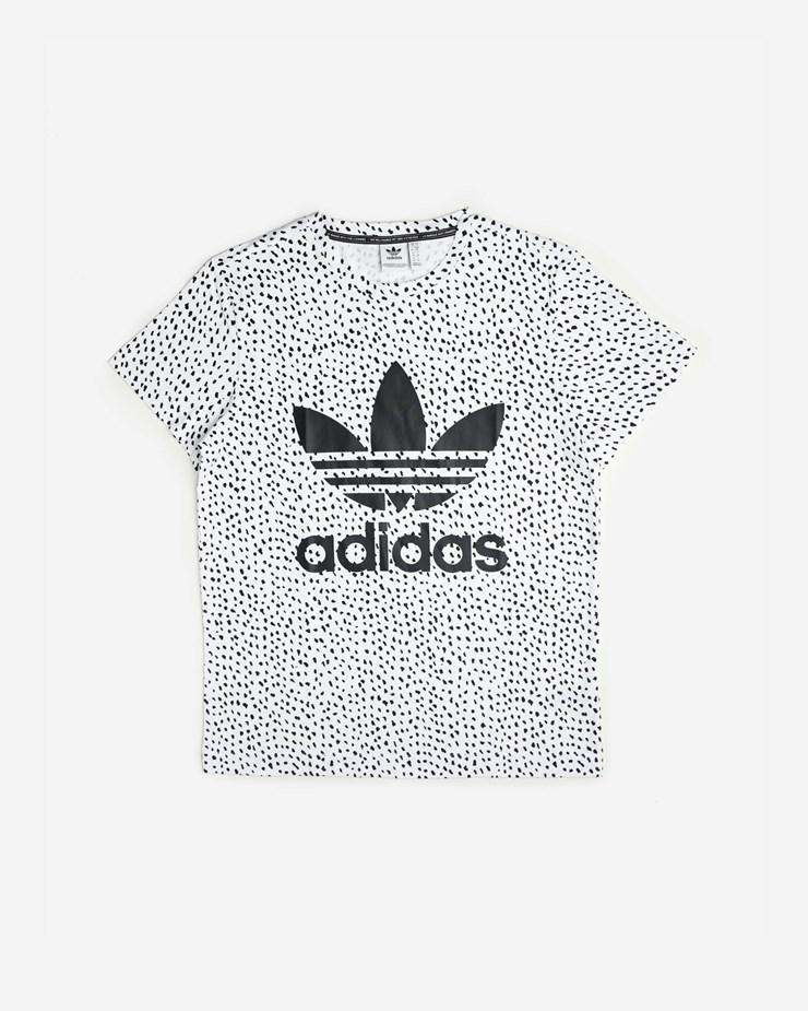 80c26b5cbb88 Adidas Originals All Over Print T-shirt BR9482   White/Legend Ink T ...