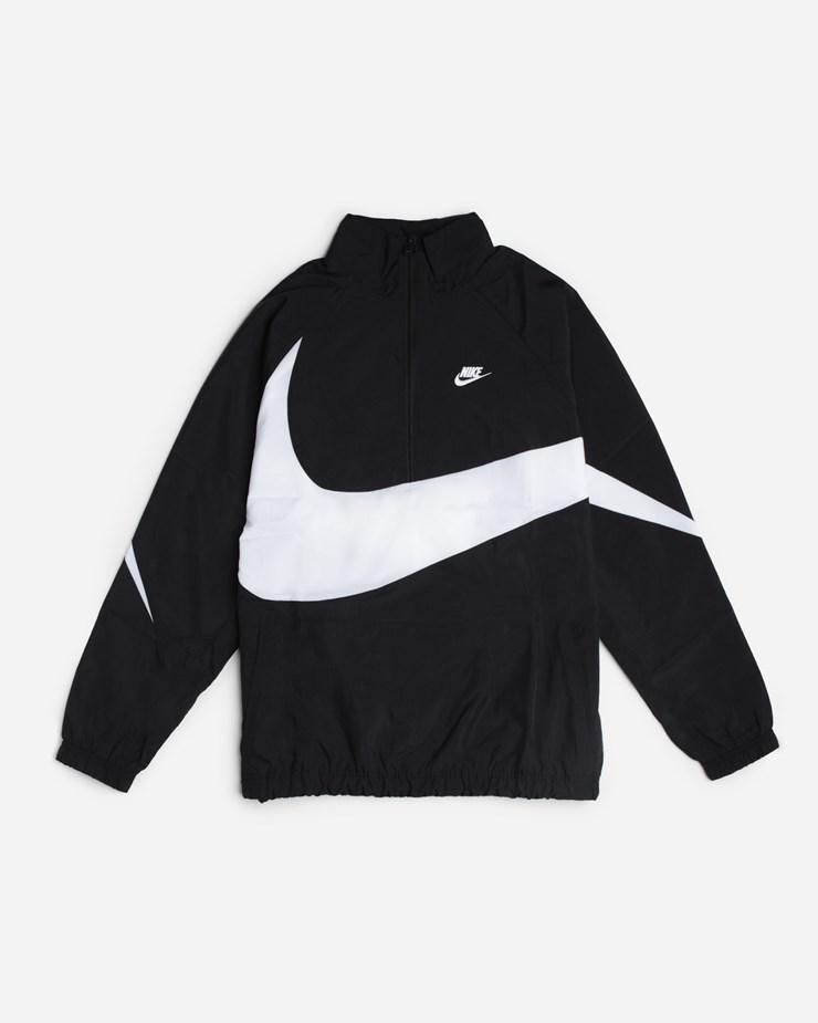 Nike Sportswear Swoosh Woven Halfzip Jacket AJ2696 010  581362fb3