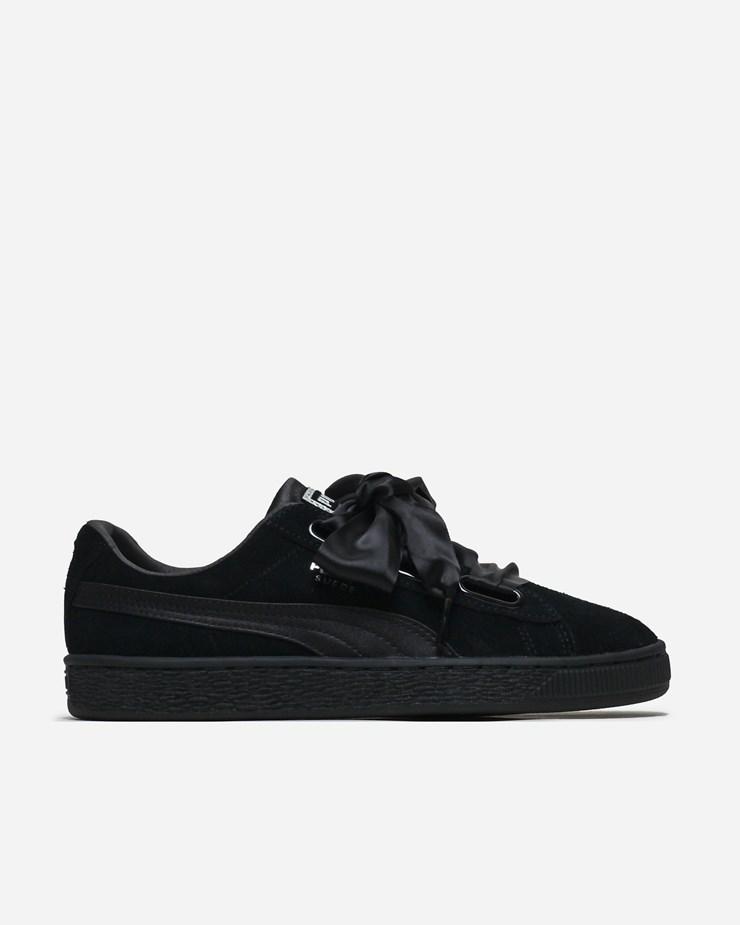 reputable site 2f492 9396c Puma Suede Heart EP 366922 001 | Black | Footwear - Naked