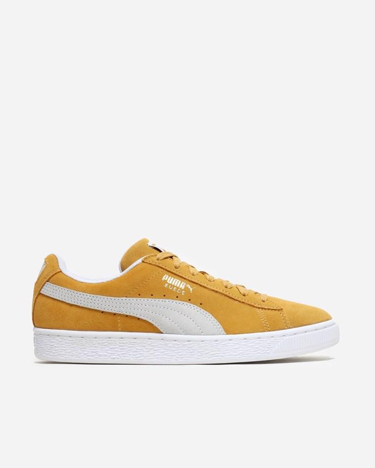mustard yellow puma suede