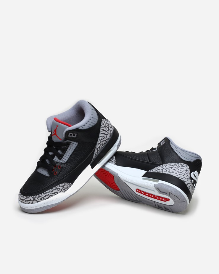 on sale 6ff8f d149b Jordan Brand Air Jordan 3 Retro OG (GS) 854261 001   Black Fire Red ...