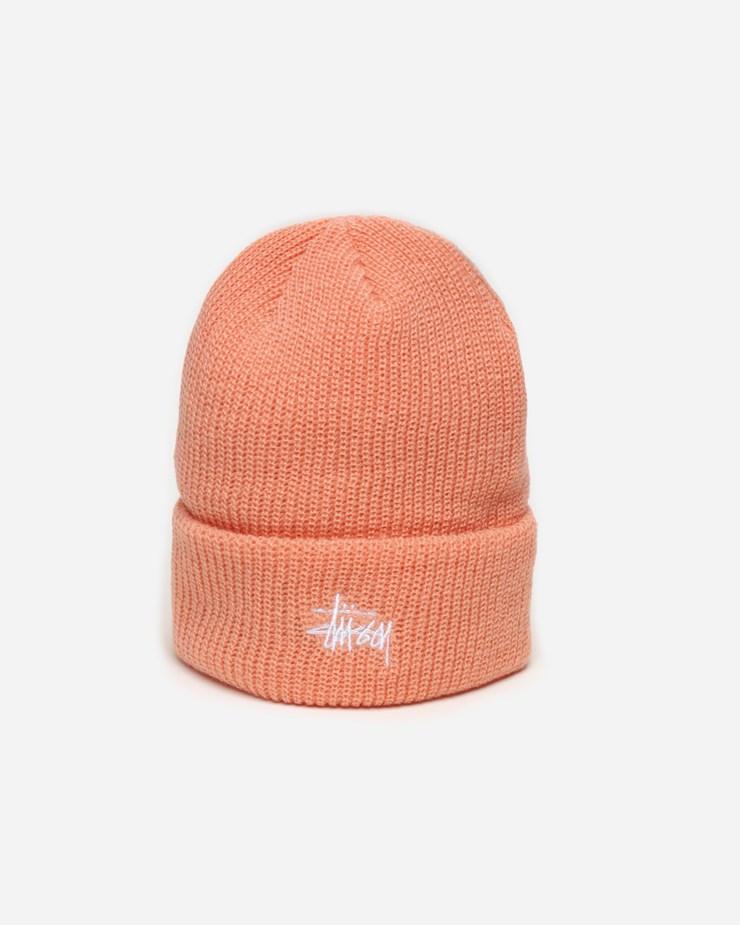 3454dfcc17cc Stussy Basic Cuff Beanie 132878 0609 | Peach Hats, beanies & scarfs ...