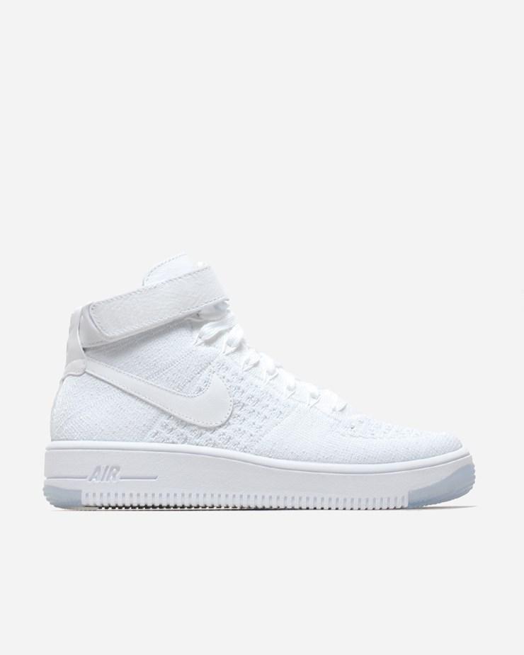 a5369def41e4 Nike Sportswear Air Force 1 Flyknit White Pure Platinum