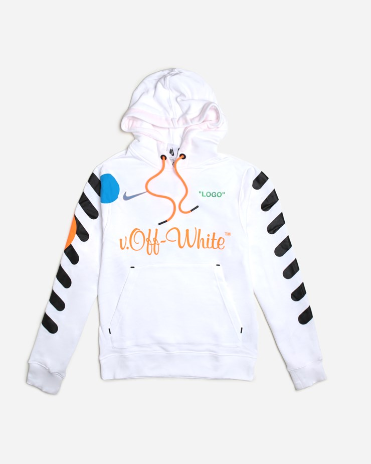 new product new specials great look Nike NikeLab x Off-White Hoodie White/Total Orange | AA3257 ...