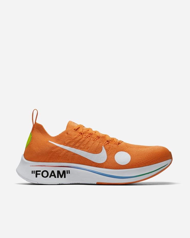 71faf3322a09 Nike Sportswear NikeLab x Off-White ZM Fly Mercurial FK Total Orange White