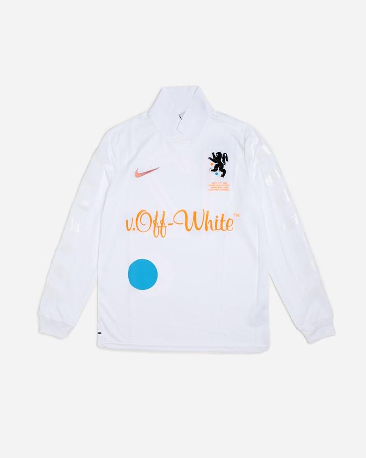 784349ba1f79 Nike Sportswear NikeLab x Off-White Home Jersey White/Total Orange