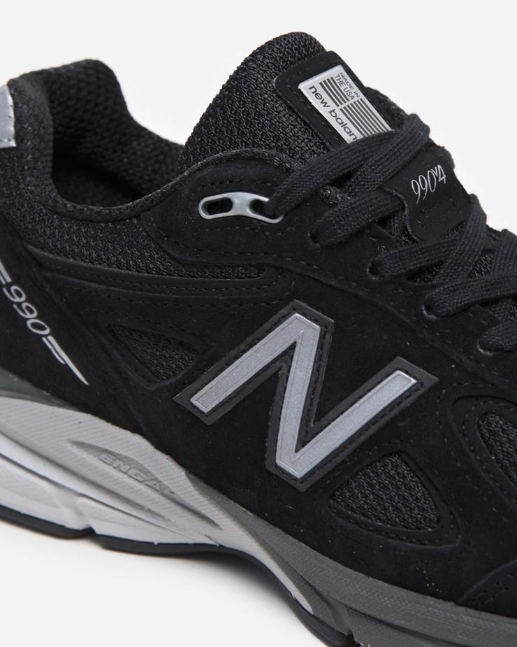 differently af080 e3c8a New Balance 990BK4 W990BK4   Black Silver   Footwear - Naked