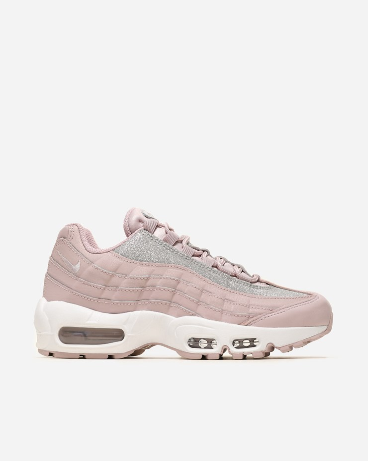 WMNS Nike Air Max 95 Shoes Particle Rose Pink Silver Glitter