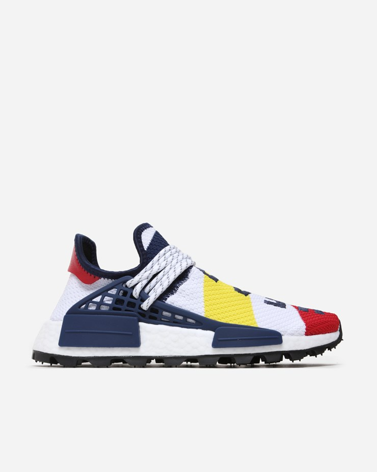 b833e3ac6ae55 Adidas Originals Pharrell Williams x Adidas NMD BBC HU White Scarlet Blue