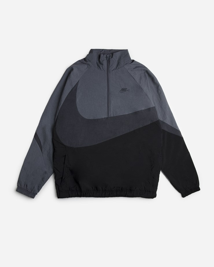 5c8622e6161d Nike Sportswear Swoosh Woven Half Zip Jacket Black Anthracite