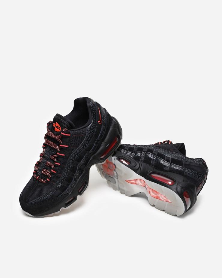 best wholesaler 32fa7 3df80 Nike Sportswear Air Max 95 AV7014 001   Black Infrared   Footwear ...