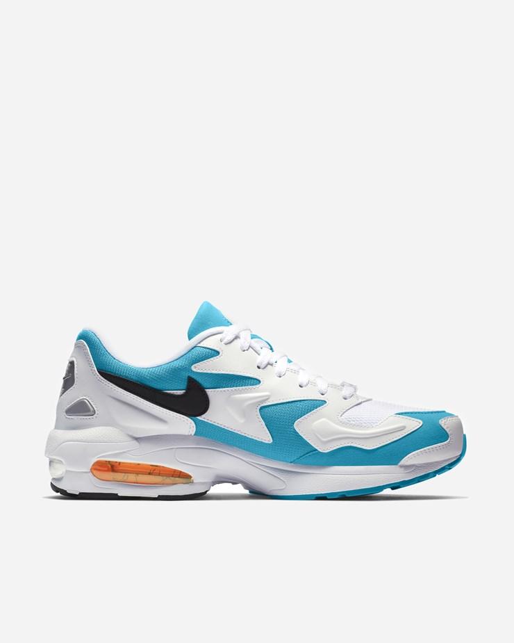 newest 133f6 d170b Nike Sportswear Air Max2 Light WhiteBlackBlue