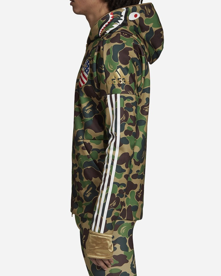 11d8988e Adidas Originals adidas Consortium x BAPE 'Superbowl' Shark Hoodie ...