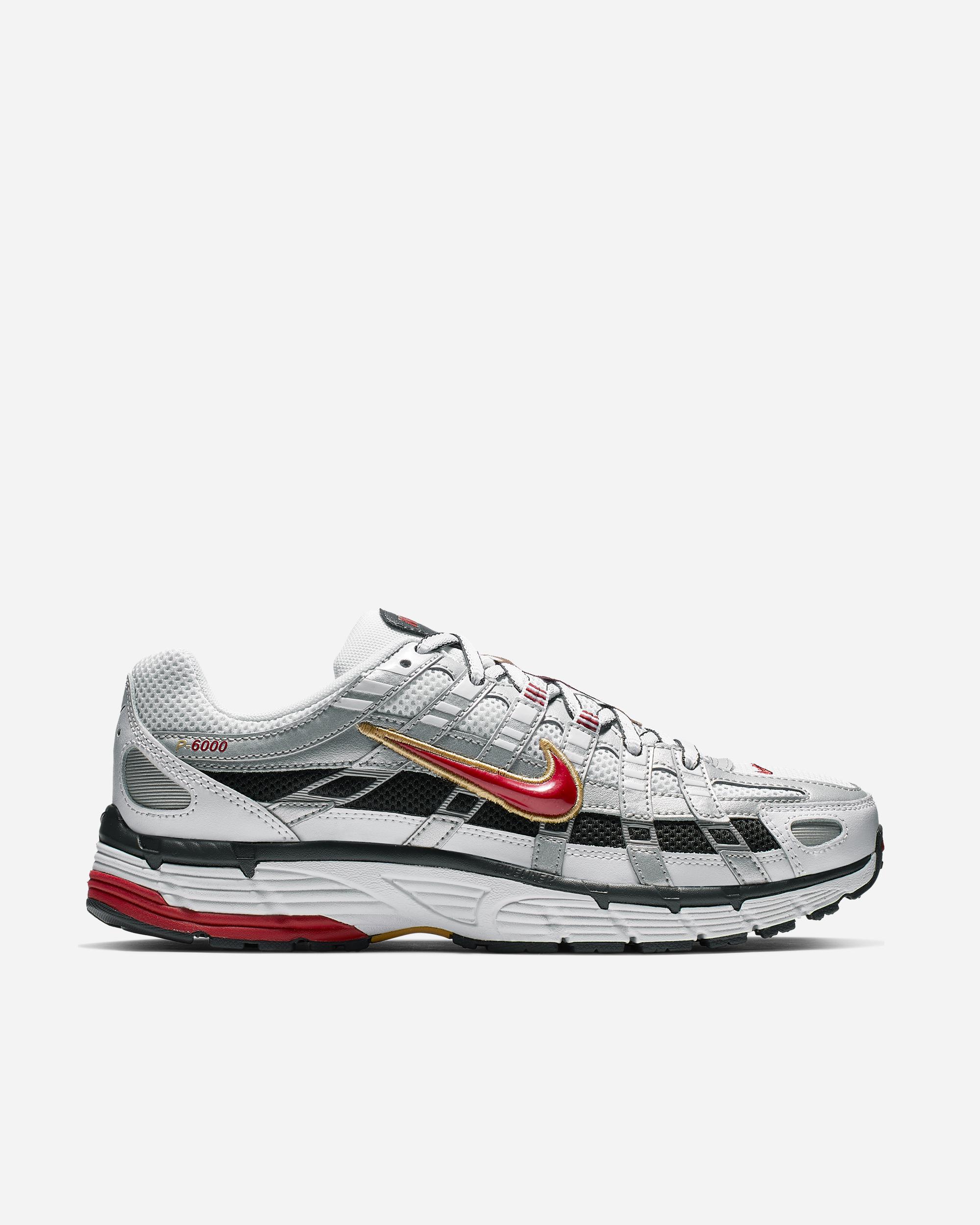 Nike Sportswear P-6000 White/Red/Metallic | BV1021 101 – Naked
