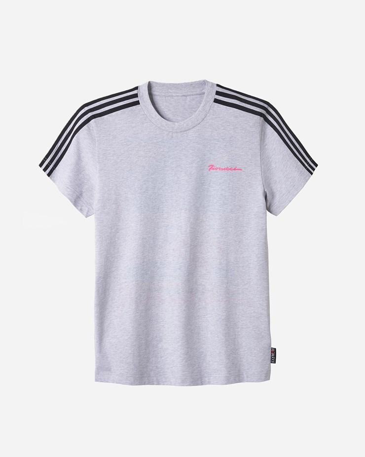 225217948a874e Adidas Originals Adidas Consortium x Fiorucci Logo Tee Light Grey Heather