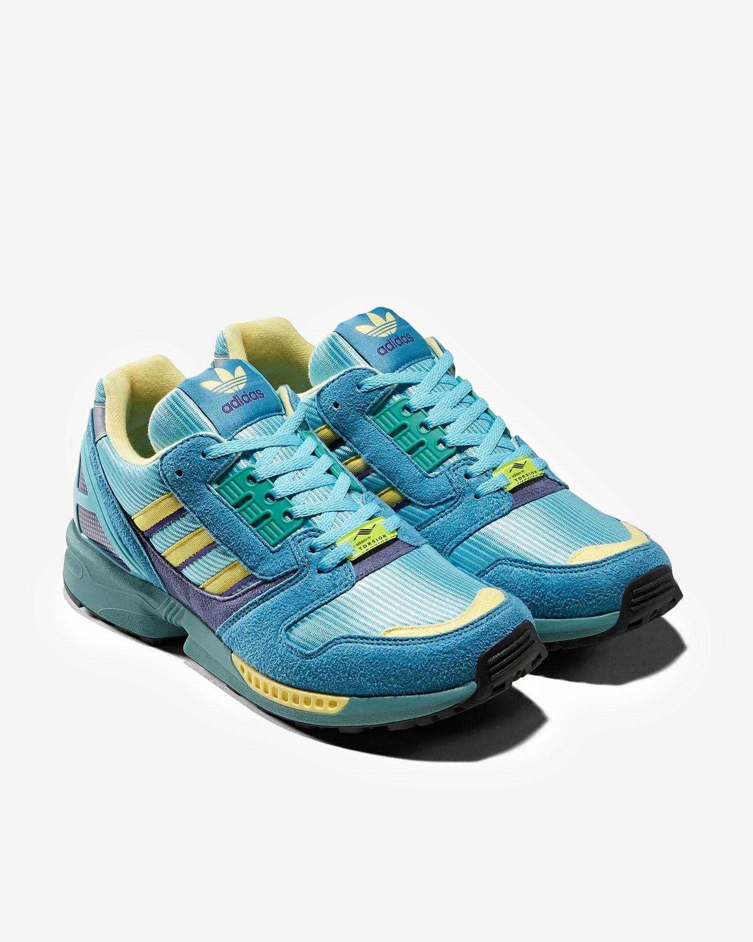 adidas Originals ZX 8000 OG Light Aqua Retro Running Shoes