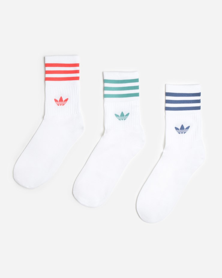 Sí misma cansado Folleto  Adidas Originals Mid Cut Crew Socks White | FM0639 – Naked