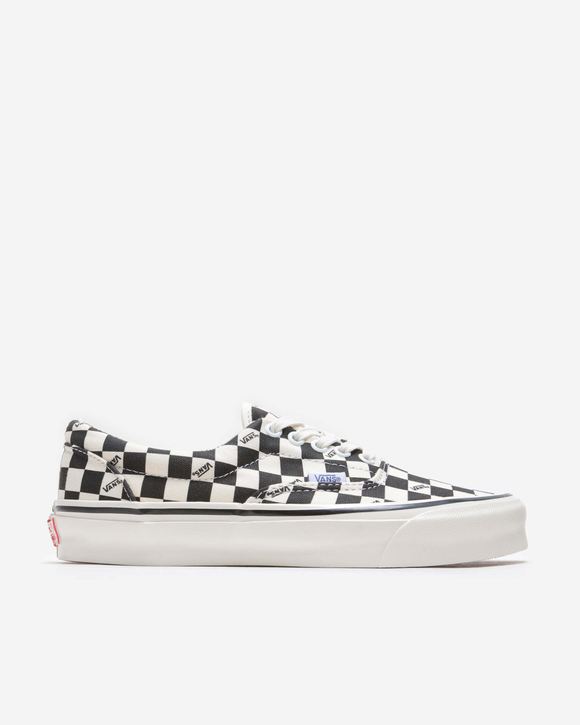 black and white checkered vans size 4