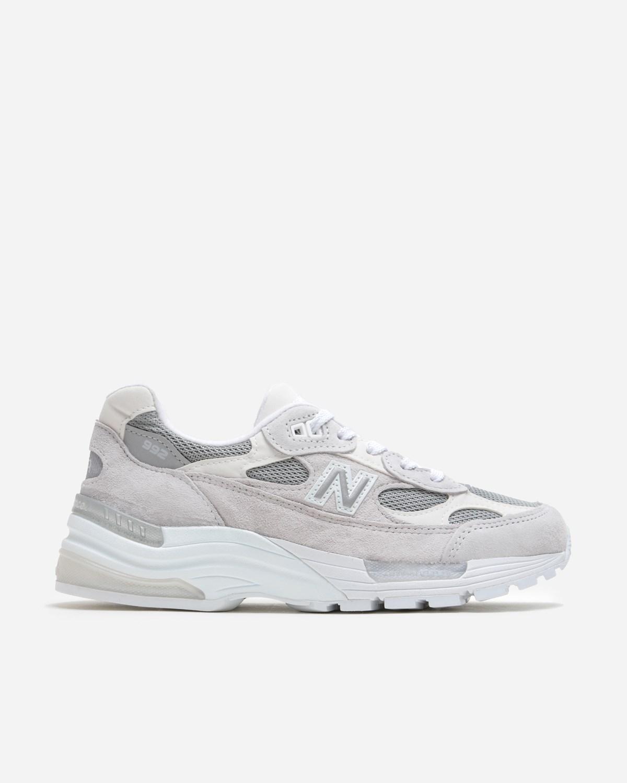 new balance 992 white silver