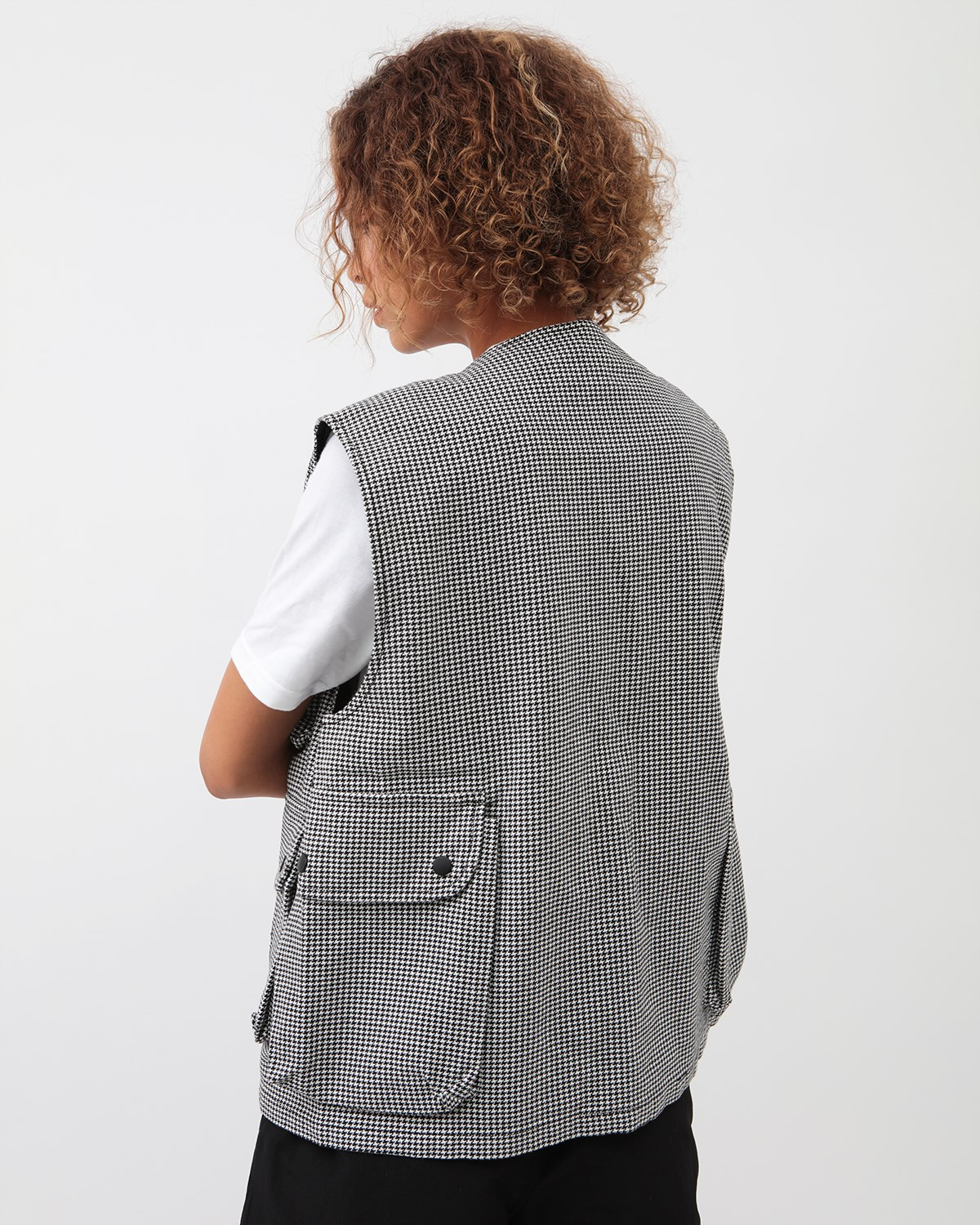 Stussy Houndstooth Work Vest Paisley | 115517 2443 – Naked