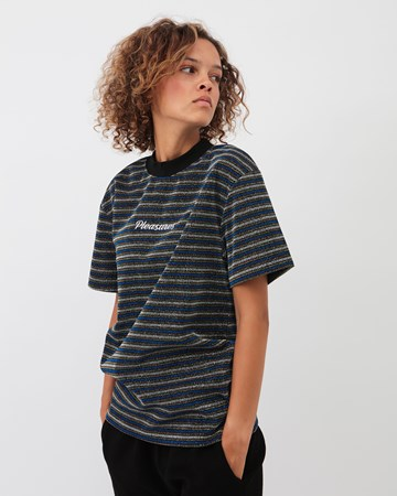 Disturbed Glitter Stripe Shirt 33148