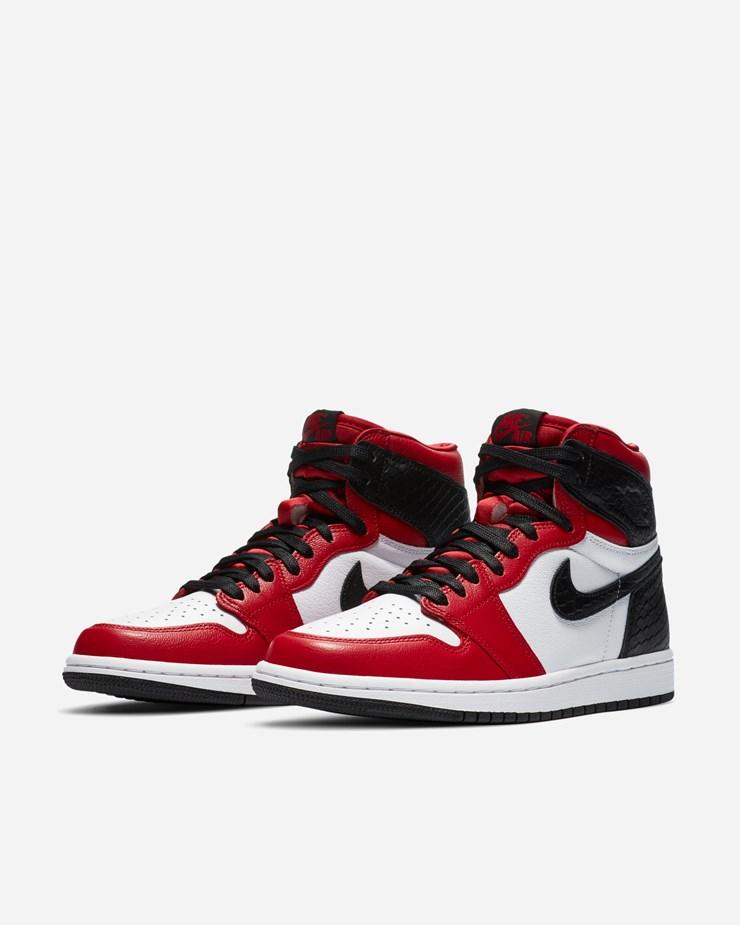 Air Jordan 1 Retro High OG Black Satin/Gym Red - Sole