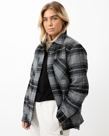 Max Plaid Quilted Shirt 35290