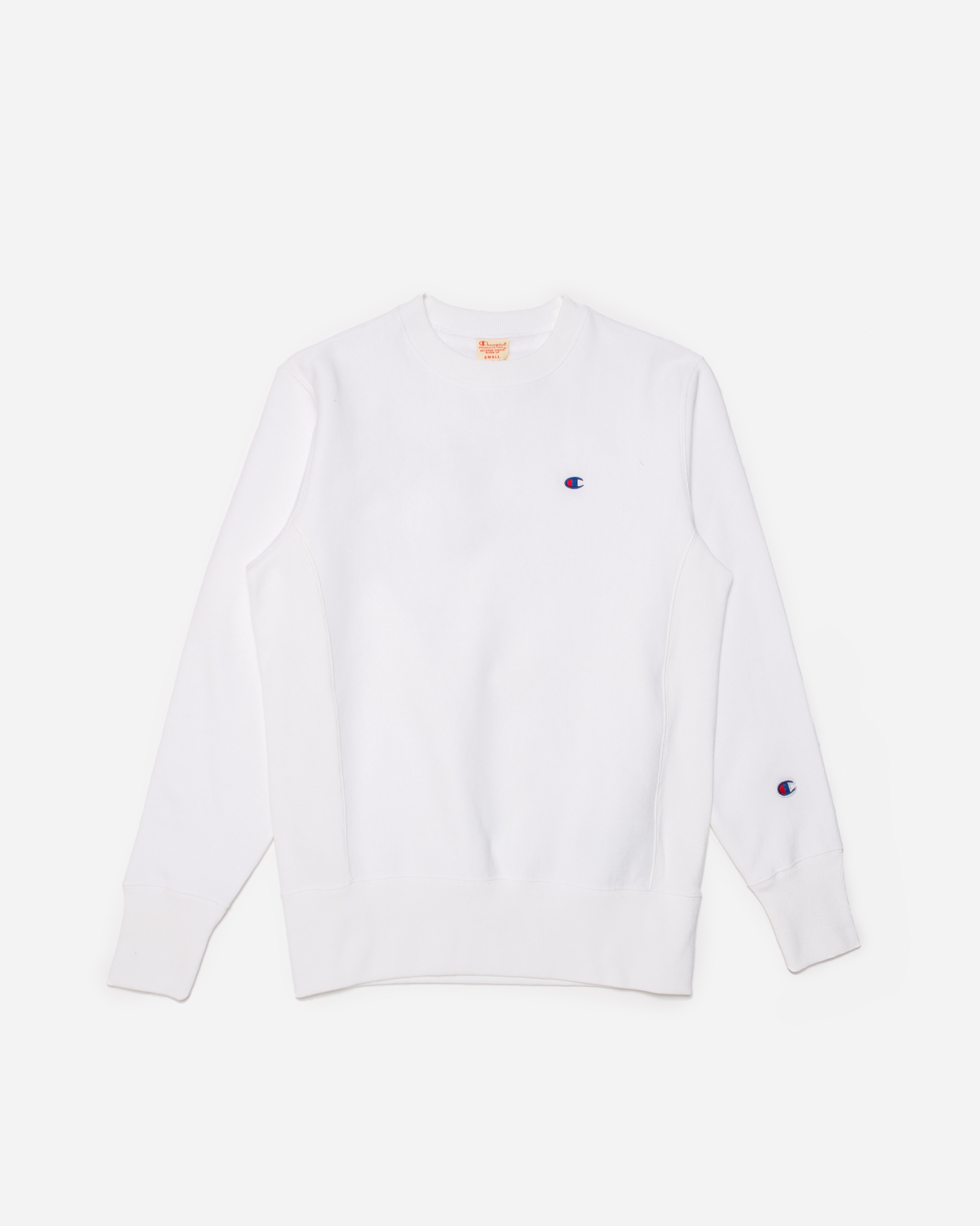 Champion Crewneck Sweatshirt White 215215 Wht Naked