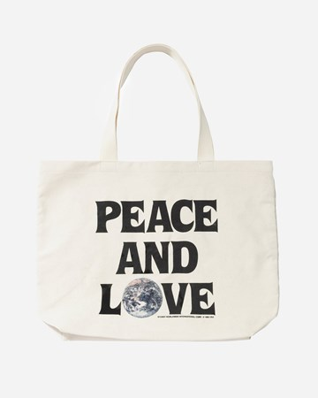 Peace And Love Canvas Tote 35808