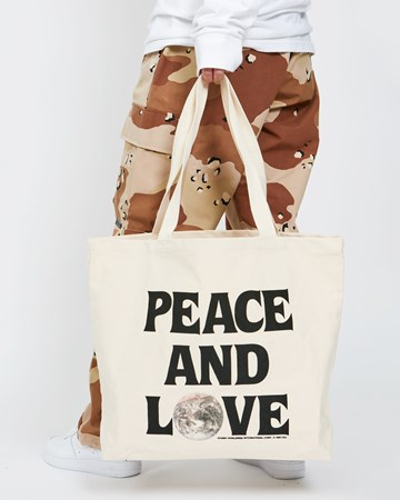 Peace And Love Canvas Tote 36022