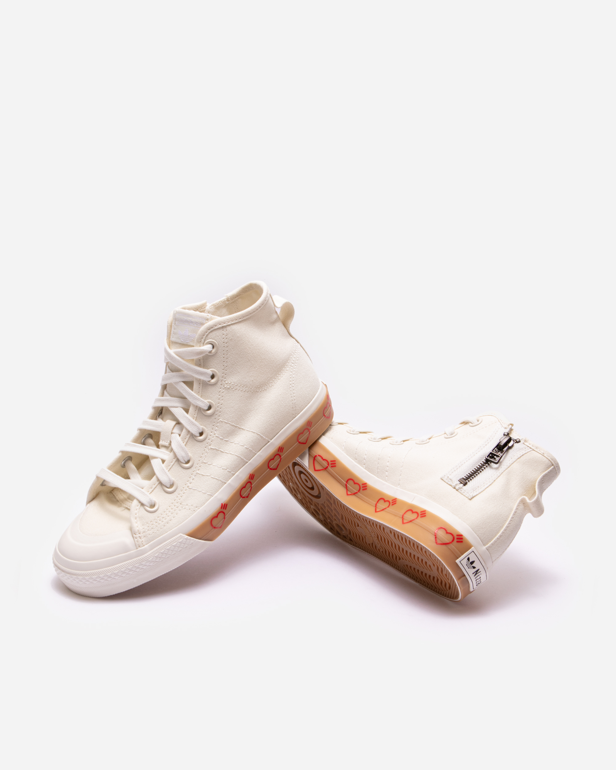 Adidas Originals Adidas Consortium x Human Made Nizza Hi Off White ...