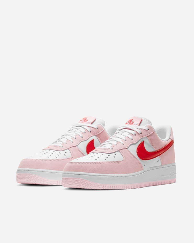 Nike Sportswear Air Force 1 '07 QS Tulip Pink/University Red ...