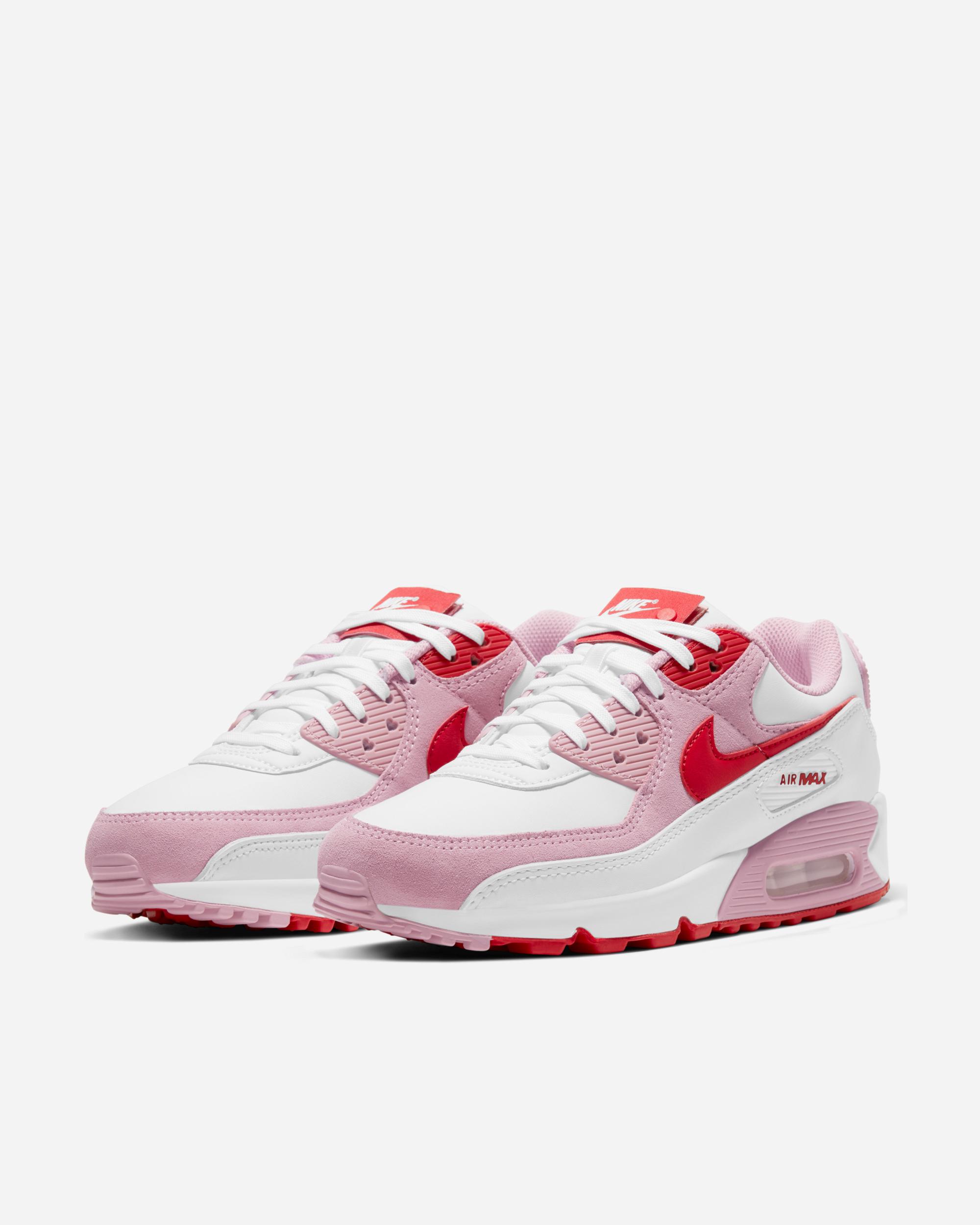 Nike Sportswear Air Max 90 QS White/Uni Red/Tulip Pink   DD8029 100