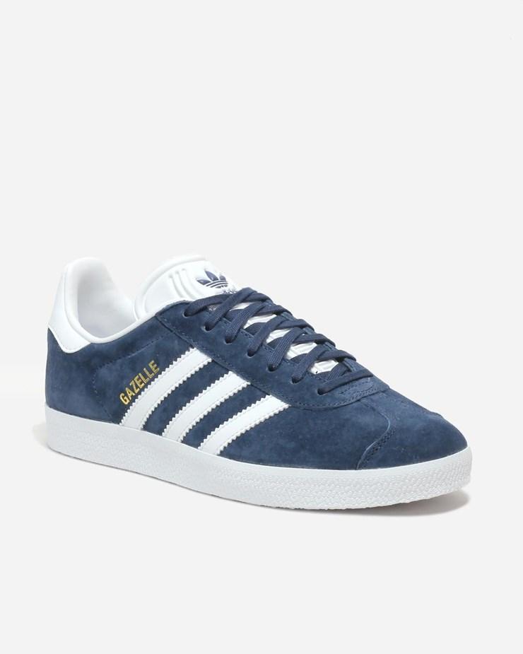 online retailer 71c38 8e1af Adidas Originals Gazelle Navy White Gold