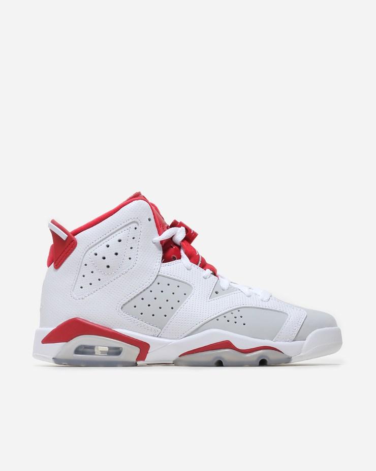 Jordan Brand Air Jordan 6 Retro (GS) White Gym Red-Pure Pla 07b5c8ea96e