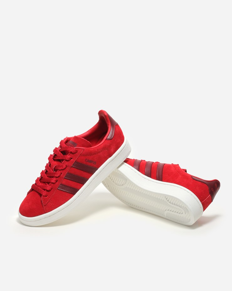 more photos aa1f5 31c4e Adidas Originals Campus BB0086  ScarletBurgundyWhite  Footwe