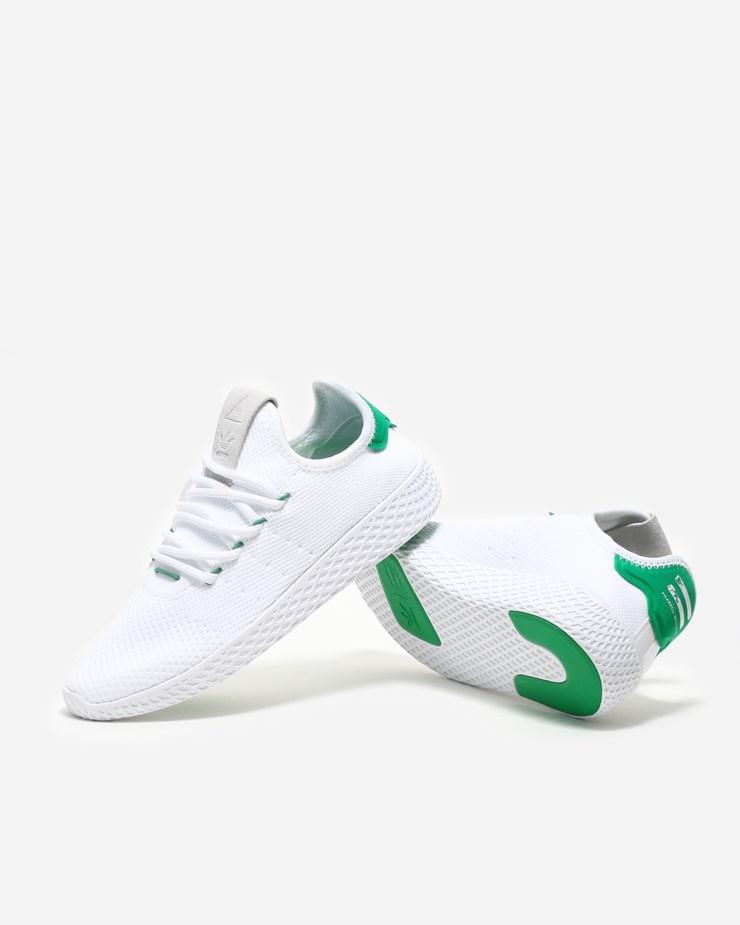 fcb41dbaf600 Adidas Originals Pharrell Williams x Adidas Tennis Hu White Green