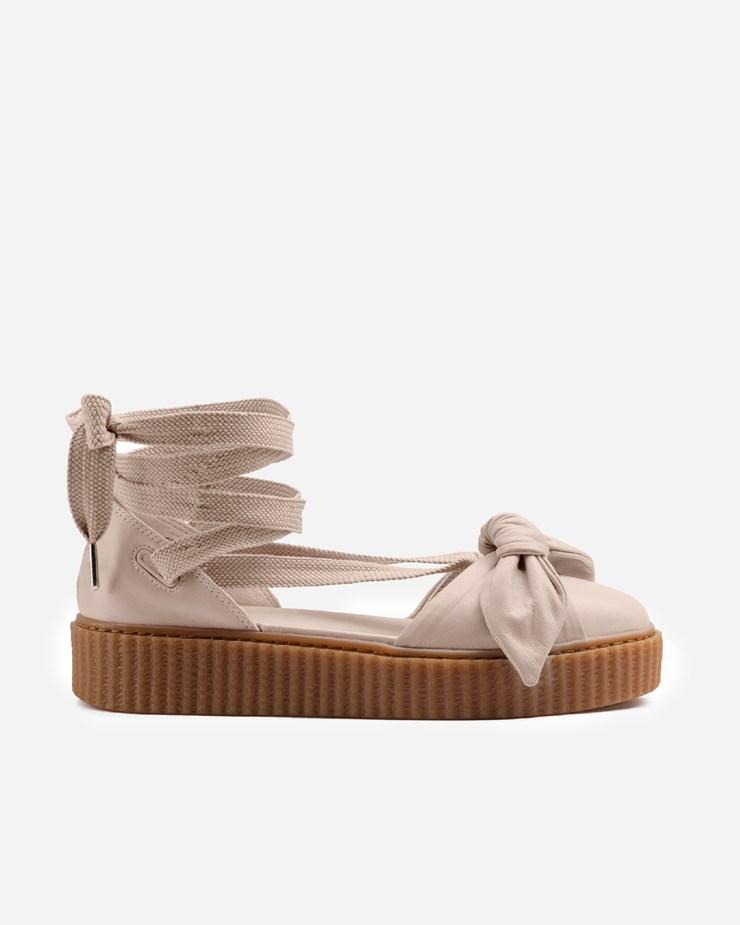 da83f82e03aee8 Puma Fenty By Rihanna x Puma Bow Creeper Sandal Pink Tint Oatmeal