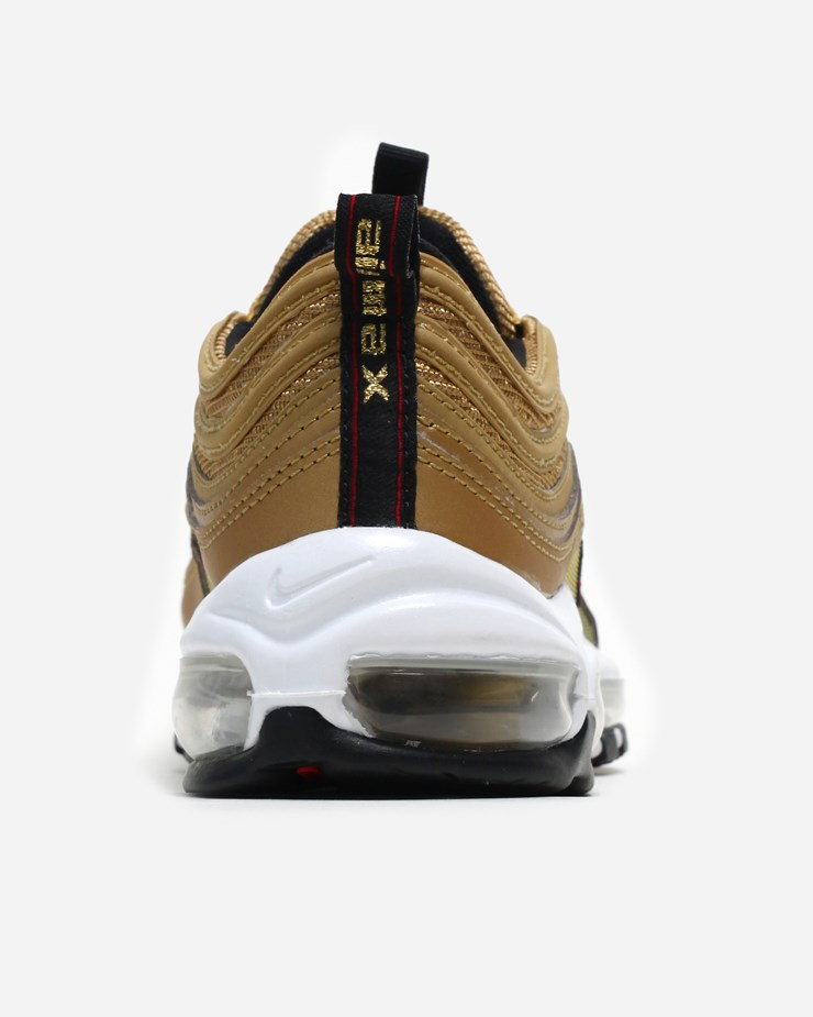 online store 7310b 1a58c Nike Sportswear Unisex Air Max 97 OG QS Metallic Gold Varsity Red